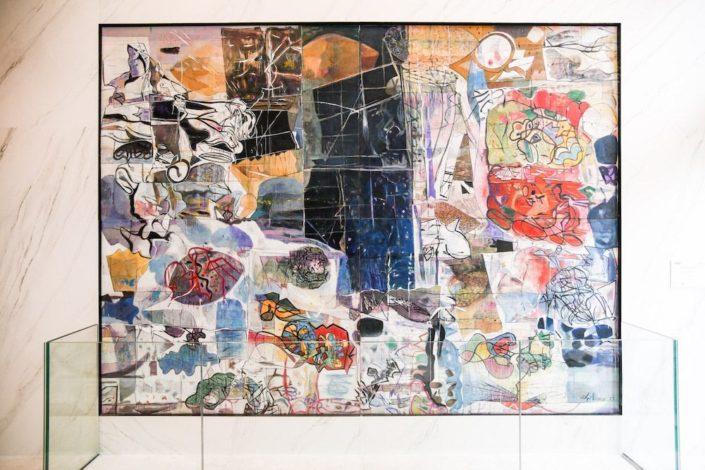 """Peinture de Fausto de Nisco réalisée pour la résidence Allure 8e dans le cadre de la charte """"1 immeble, 1œuvre"""""""
