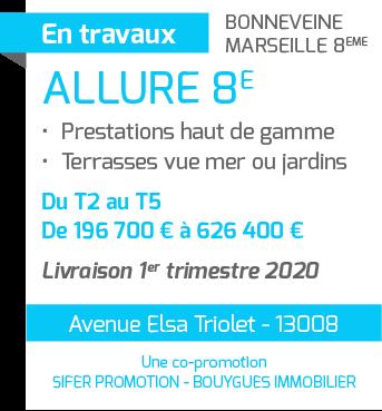 """Programme immobilier neuf """"Allure 8e"""" dans le 8e arrondissement de Marseille - SIFER Promotion"""